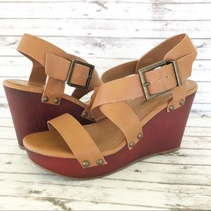 Lucky Brand Muriela Platform Wedge Sandals 7.5